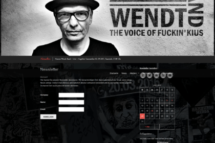 Hannes Wendt Band - Newsletter